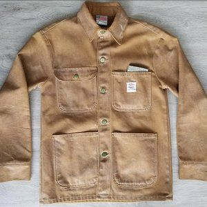 POINTER BRAND Waxed Canvas Duck Brown Chore Coat
